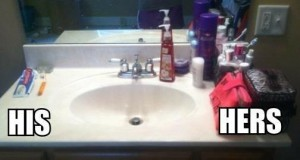 Łazienka: On i Ona