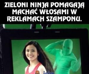 Może to jej urok? Nie, to zieloni ninja