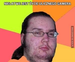 Niełatwe jest życie ulicznego gamera