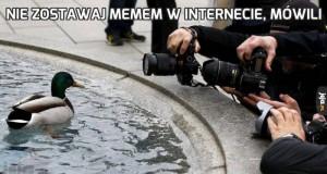 Nie zostawaj memem w internecie, mówili