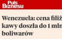 Milion boliwarów to złotówka