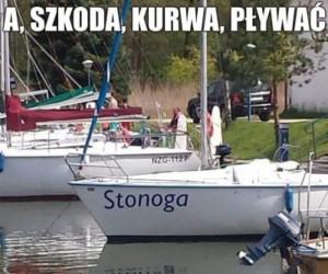 Ale wulgarna ta łódka