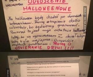 Ostatnie Halloween. Ogłoszenie w windzie i odpowiedź sąsiada