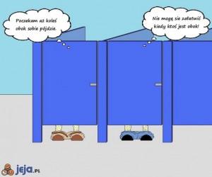 W publicznej toalecie