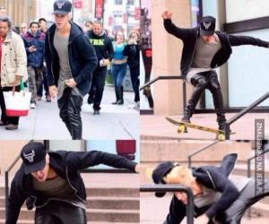 Brawo, Justin, jesteś miszczem deskorolki!