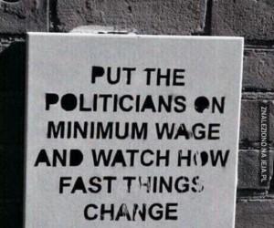 Minimalna krajowa dla polityków