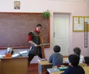 Prawilny nauczyciel z pasją