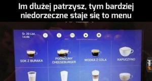 Poproszę podwójnego cheeseburgera z mlekiem i cukrem