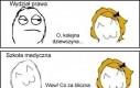 Reakcje na dziewczyny na studiach