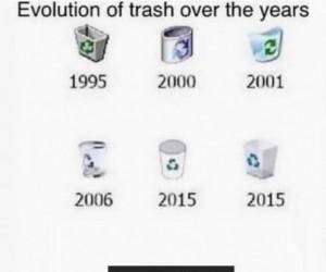 Śmietnik na przestrzeni lat