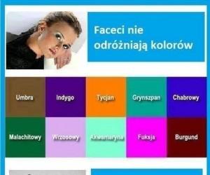 My nie odróżniamy kolorów?