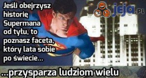 Superman od tyłu