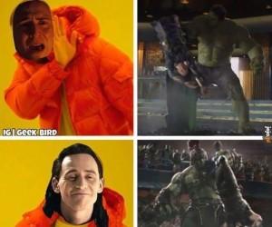 Loki woli, kiedy Hulk masakruje jego brata