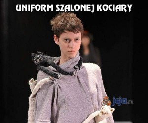 Uniform szalonej kociary