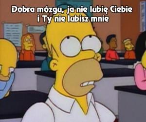Homer negocjuje z mózgiem