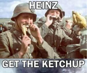 Ein ketchupwerfer bitte!