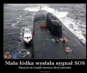 Mała łódka wysłała sygnał SOS