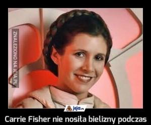 """Carrie Fisher nie nosiła bielizny podczas kręcenia """"Gwiezdnych wojen"""""""