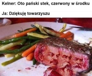 Prawdziwy czerwony stek