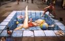 Iluzja na chodniku - basen