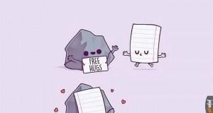Papier bije kamień