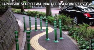 Japońskie słupki zwalniające dla rowerzystów