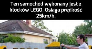 Niezwykły samochód z klocków LEGO
