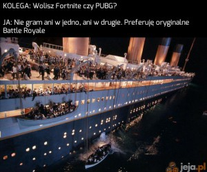 To miejsce w szalupie będzie moje!