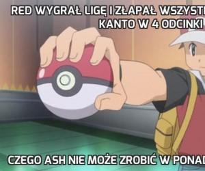 Red wygrał Ligę i złapał wszystkie Pokemony z Kanto w 4 odcinki