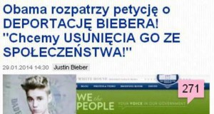 Deportacja Biebera... Kto jest za?