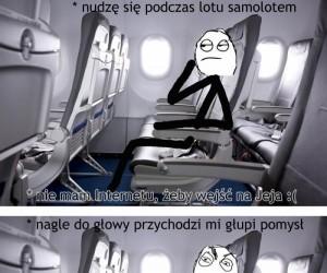 Zabawa podczas lotu samolotem
