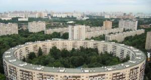 Okrągłe blokowisko w Rosji
