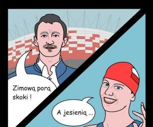 Stadion narodowy - Zimową porą skoki, a jesienią...