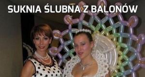 Suknia ślubna z balonów