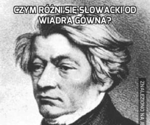 Czym różni się Słowacki od wiadra gówna?