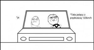 Jazda samochodem z rodzicami