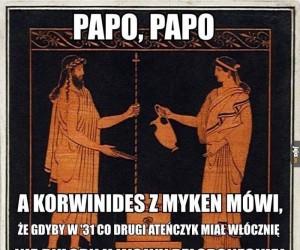 Korwinides z Myken mówi