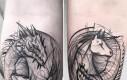 Tatuaże w formie artystycznego szkicu