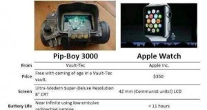 Pip-Boy vs. Apple Watch