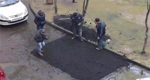 Tak się robi drogi w Rosji!