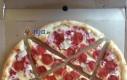 Nietypowo pokrojona pizza