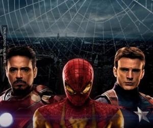 Spiderman wystąpi z Iron Manem i Kapitanem