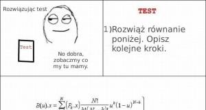 Test z matematyki