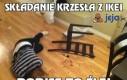 Składanie krzesła z IKEI
