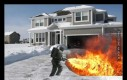Pewien Amerykanin został aresztowany za odśnieżanie przy pomocy miotacza ognia