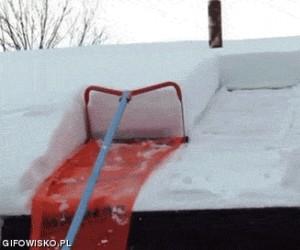 Maszynka do zrzucania śniegu