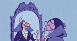 Liczyhrabia przegląda się w lustrze