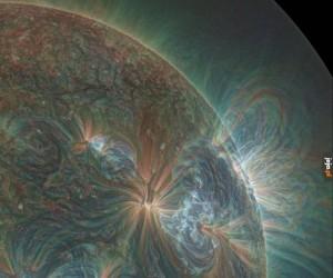 Zdjęcie Słońca w ultrafiolecie