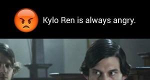 Kylo Ren jest zawsze zły
