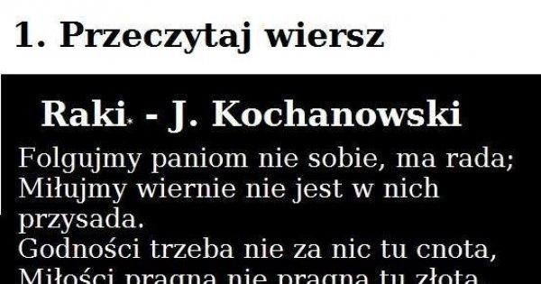 Kochanowski Ty Podstępny Człowieku Jejapl